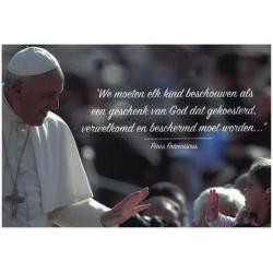 Postkaart Paus Franciscus