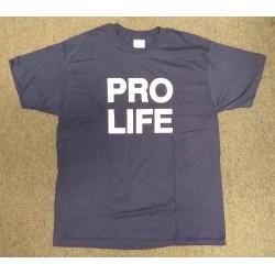Blauw Pro Life T-shirt met...